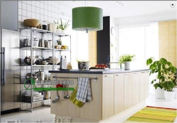 Bài trí cây xanh trong phòng ăn