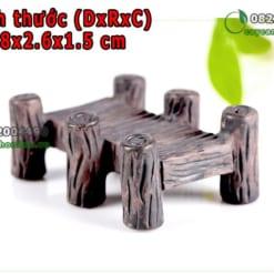 Cầu gỗ trang trí tiểu cảnh