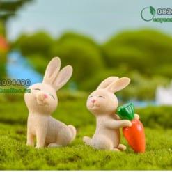 Thỏ trang trí tiểu cảnh