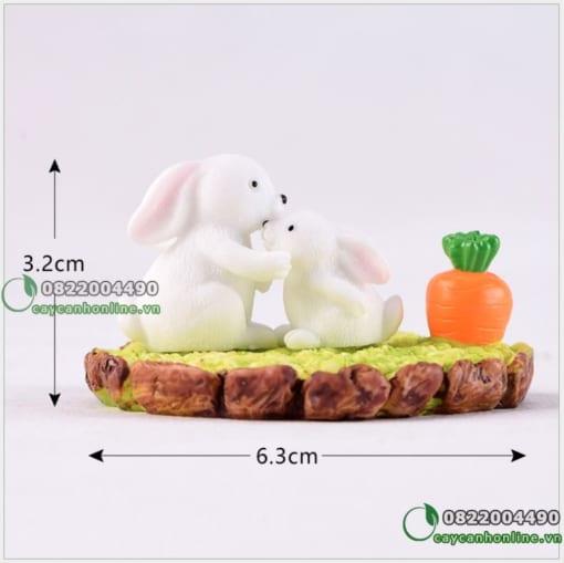 tiểu cảnh thỏ