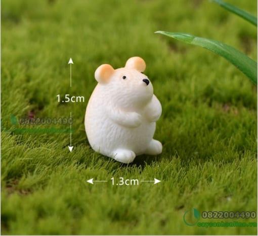 chuột hamster trang trí tiểu cảnh