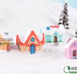 Nhà tuyết to trang trí tiểu cảnh giáng sinh