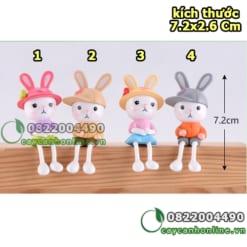 Thỏ chân dài trang trí tiểu cảnh
