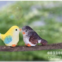 Chim sắc màu tượng mini trang trí