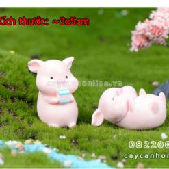 TƯợng lợn mini trang trí tiểu cảnh để bàn