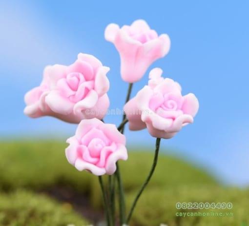 Hoa giả màu hồng