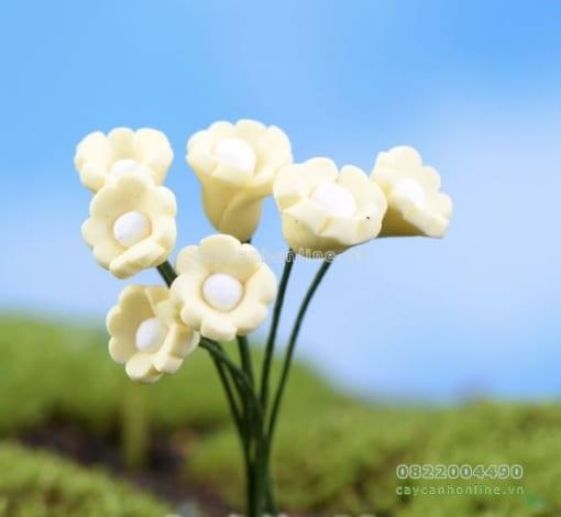 hoa giả trang trí tiểu cảnh cây cảnh