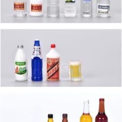 Các loại mô hình mini chai rượu bia