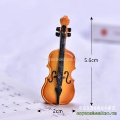 Đàn ghita mini trang trí mô hình
