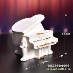 Mô hình đàn piano trắng mini
